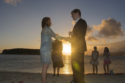 A sunset wedding in Esperanza
