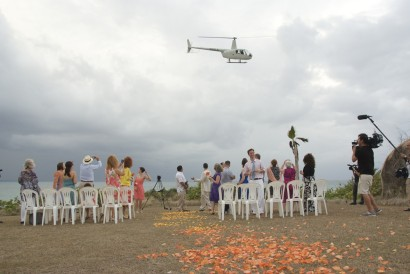 Bride makes unusual entrance